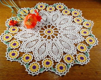 Flower Doily Set Crochet Pattern PDF