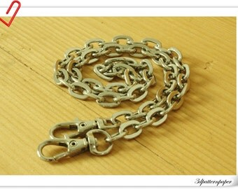 55cm heavy duty silver chains for purse  P29