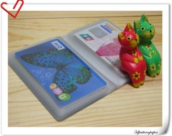 12 pages credit card holder making supplies 5 sets Z23