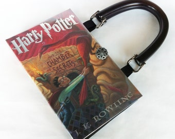 Harry Potter and the Chamber Of Secrets Book Purse - Harry Potter Book Clutch - Harry Potter Collector Gift - Book Cover Handbag