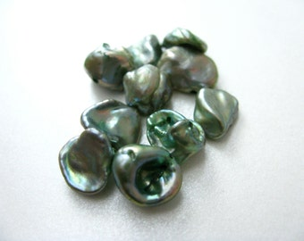 Sage Green Keishi Freshwater Pearls