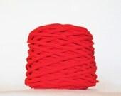 Apple Red Tarn Recycled T-Shirt Yarn 57 Yds