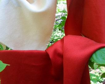 "Madder Red Silk Fabric Crimson 3 Pieces Poppy Red Cream Pink 12""x 19""Naturally Dyed Silk Art Fabric Hand Dyed Silk Fabric Charmeuse Silk Red"