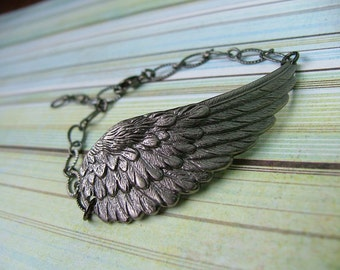 As I Take Flight Metal Angel Wing Bracelet by MyBella