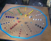 Dual sided 24 inch 6 and 4 player Aggravation game