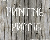 Price List for Printed Products - PLEASE DON'T PURCHASE