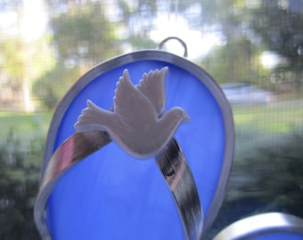 White Dove Flipflop Suncatcher