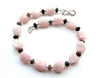Candy -- Rosequartz,Jasper and Sterling Choker