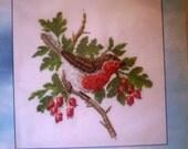Cross Stitch Destash David Merry Portfolio Robin Counted Thread Embroidery Heritage Stitchcraft