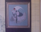 """Cross Stitch Destash Lavender and Lace """"Ice Angel"""" Cross Stitch Pattern 1993 in original packaging"""