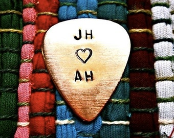 Initials Guitar Pick