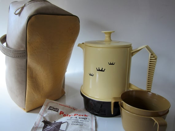 Regal Coffee Maker Instructions : Coffee Percolator Poly Perk Travel Case Electric Vintage Cup