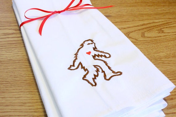 Embroidered Sasquatch Towel