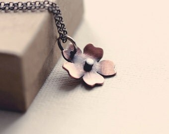 Little cherry blossom necklace in copper
