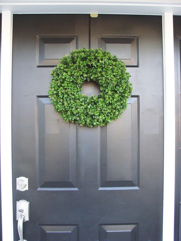 Artificial Boxwood Wreath 16 Inch Front Door Wreaths