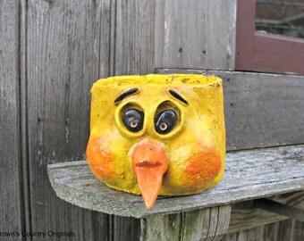 Paper Mache Chick Container