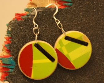 Reclaimed Skateboard Earrings