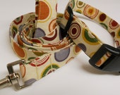 Matching Collar and Leash Set - Round and Round