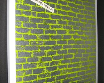 Lime Bricks ..Magnetic Dry Erase Memo Board/ Housewarming Gift / Office Decor / Desk / Organization / Message Board / Coworker/ Wall Hanging