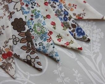 SALE SALE SALE! Autumn Vintage Brown Blue Banner Bunting ideal for a Wedding Birthday Party or Celebration or Photo prop Ready to ship