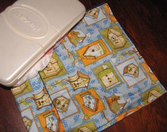 Diaper clutch, diaper and wipes carrier, birdhouse garden