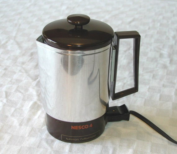 Oster Coffee Maker Stopped Working : Nesco4 Travel Percolator Vintage Nesco / by SunsetSideVintage