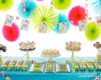 Ready to Pop Baby Shower PRINTABLE Party Collection - You Customize EDITABLE TEXT >> Instant Download   Paper and Cake