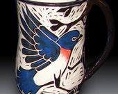 Bluebird in a Tree Mug