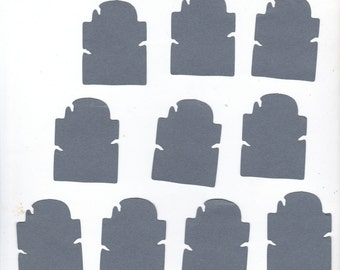 Halloween TOMBSTONE Die Cuts - Gray - or Custom Color