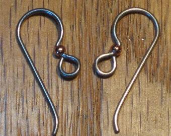 Hypoallergenic Ear Wires Niobium Grey Fish Hook 2 Or More Pairs TierraCast 2mm Copper Balls Fishhook Tierra Cast 20 Gauge Earrings Gunmetal