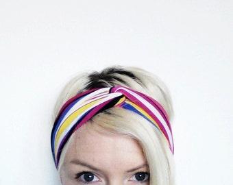 Twist Turban Headband, Turban, Yoga Headband, Hair Wrap, Eco Friendly