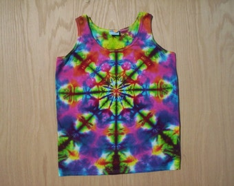 Kaleidoscope Tie Dye Tank Ladies Small