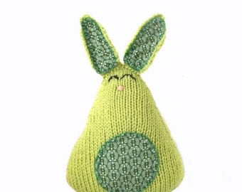 Knit Green Easter Bunny