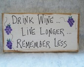 Whimsical sign, handpainted on canvas for wine lovers.