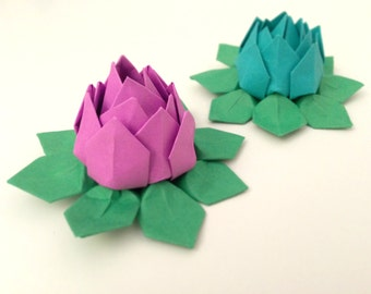 Origami water lily | Etsy - photo#19