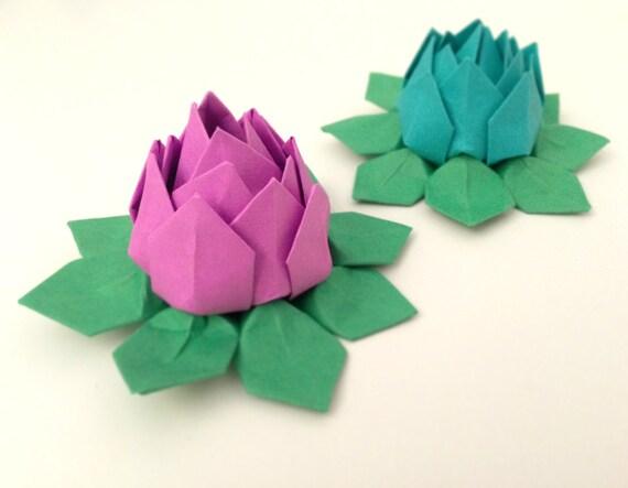 12 n nuphars lotus en origami fleurs en papier couleurs. Black Bedroom Furniture Sets. Home Design Ideas