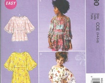 GIRLS CLOTHES PATTERN / Sale / Boutique Style Dress Or Top / Child Size 3 - 6 or Girl 7 - 14