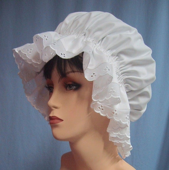 Mob cap historical costume accessory mop hat colonial for Colonial hat template