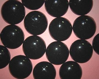 Wholesale 144 Mock Onyx Black Round Cabochons  24MM  EL3