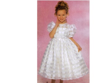 Girl's Dress Sewing Pattern - Easter Dress Pattern - Simplicity 5040 - Uncut, Factory Folded Size 7 to 14