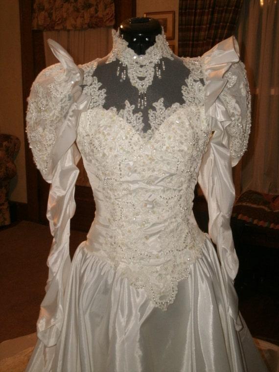 Marina bridal vintage victorian edwardian wedding dress gown for Vintage victorian wedding dresses