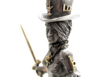 Warrior Princess Nancy Aline steampunk sculpture