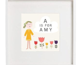 A is for... Personalized Kid's Art