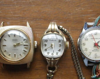 Three Ladies Watches - Gruen, Boulevard and Carvelle