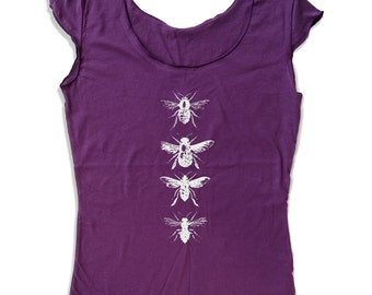 Womens BEES Scoop Neck Tee - american apparel T Shirt S M L XL (6 Colors)