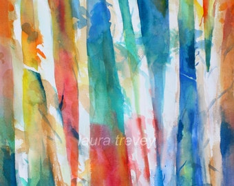 Giclee on Canvas, Birch Trees