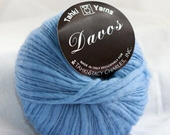 Super Soft Wool Ripple Yarn - Federal Blue - Tahki Yarns, 100% Wool, Thick Thin Ripple (1) 108-yd skeins