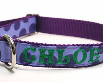 Any Design Metal Buckle NAME and PHONE Personalized Collar