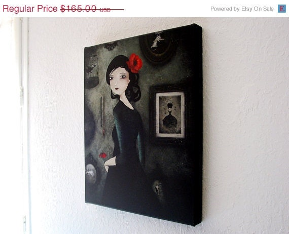 SUPER SALE  65% OFF The Art Collector - Canvas Print - 16x20inch