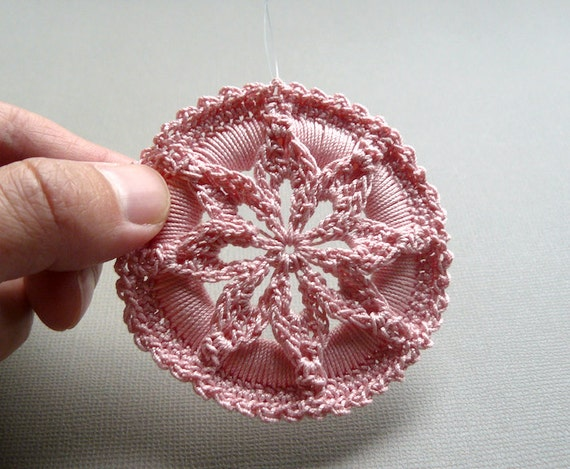 Crochet Medallion Pattern Star Flower Medallion Ornament